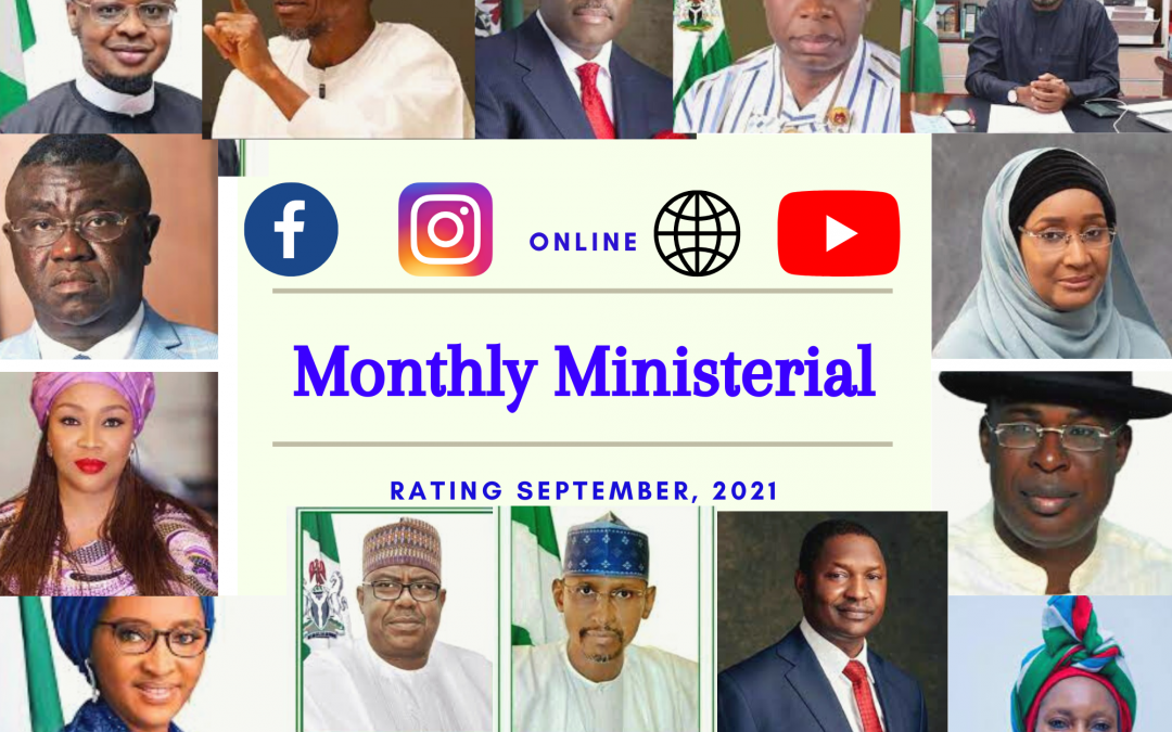 14 Ministers Engaged Citizens In September On Social Media – Cross bar edition